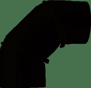 JUSTUS Rohrbogen, gussgrau verstellbar, Ø150 mm