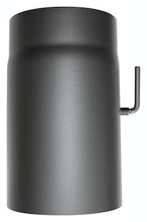 JUSTUS Rauchrohr mit Drosselklappe, schwarz, Ø150 mm