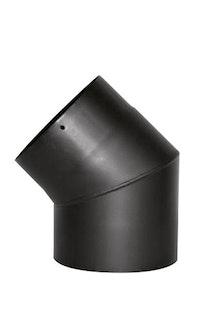 JUSTUS Rohrbogen 45°, schwarz, Ø150 mm