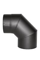 JUSTUS Rohrbogen, schwarz, 90°, Ø150 mm