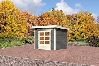 Karibu Gartenhaus Emden 3 mit Fußboden terragrau - Moin Aktion