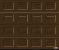Hörmann Garagentor Sektionaltor LPU42 S-Kassette Woodgrain terrabraun