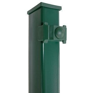 Kraus DS Rechteckpfosten K 60x40 mm mit Kunststoffklemmhalter-grün 1-2000 mm für 1400mm hohe Matten (B-Ware)