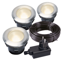 Garden Lights Bodeneinbauleuchte Larch 3er Set