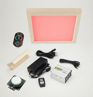 Infraworld Set - LED Farblicht Sion 1A, Audiosystem, Lautsprecher Slim