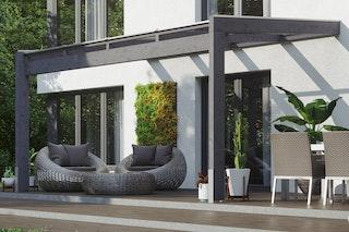Skan Holz Terrassenüberdachung Novara Breite 450 cm