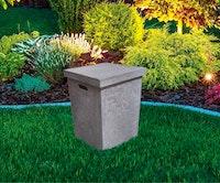 Gardenforma Abdeckung eckig für Gasflaschen, Beton-Optik grau Faser-Beton, für 11 kg Gasbehälter
