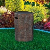 Gardenforma Abdeckung für Gasflaschen, Naturstein-Optik dunkel Faserbeton, für 11 kg Gasbehälter