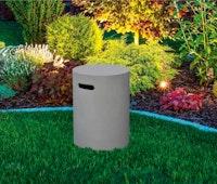 Gardenforma Abdeckung rund für Gasflaschen, Beton-Optik grau Faser-Beton, für 11kg Gasbehälter