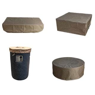 Gardenforma Wetterschutzhaube für Gasbrenner, aus Kanevas Textil, passend für Feuerstellen Ubinas und Hampton