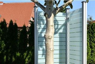 OSMO Glasscheibe Blockstreifen Cremeweiß 89 x 178 cm