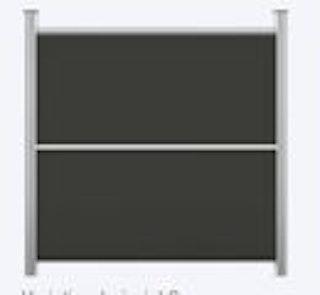 OSMO HPL Elegance Grundelement zweigeteilt 180x178 cm