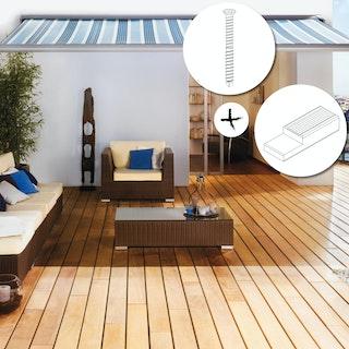 OSMO Terrassendielen-Set Garapa für Karibu Schleppdächer mit Dachmaß B 232 × T 301 cm