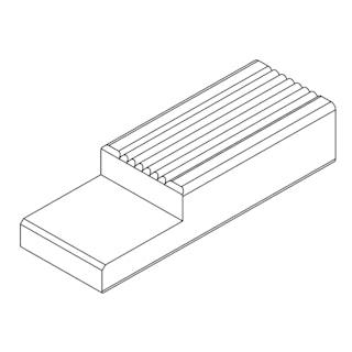OSMO Terrassen mit System Unterkonstruktion GARAPA geriffelt