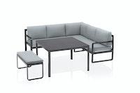 Kettler Loungegruppe OCEAN Eckset Aluminium anthrazit / 100 % Polyester grau