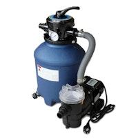 Karibu Filterpaket Sandfilteranlage groß inkl. Breitmaulskimmer und Rücklaufdüse (230 V) - bis 6,5 m³