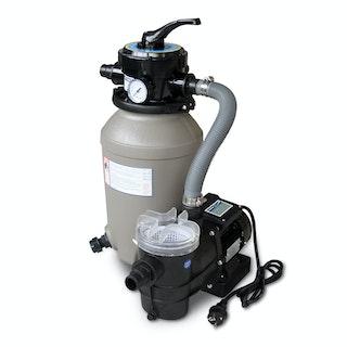 Karibu Filterpaket Sandfilteranlage klein inkl. Breitmaulskimmer und Rücklaufdüse (230 V) - bis 4,5 m³