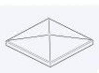 OSMO Pfostenkappe Dach für Aluminium-Pfosten 9x9