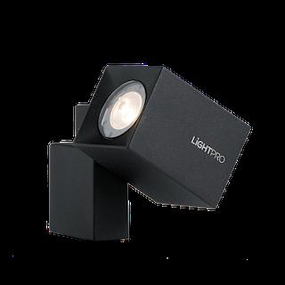 Lightpro Wandleuchte Quartz Schwarz Alu 120 lm
