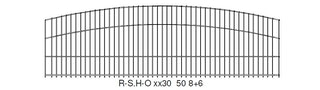 LEGI-Ziergitter R-S.H-O - Höhe 1430 - Feuerverzinkt - B-Ware