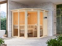 Karibu Sauna Sinur 1 Superior mit Eckeinstieg 68 mm