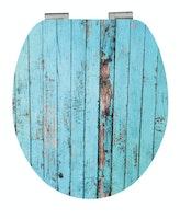 MDF High Gloss WC-Sitz BLUE WOOD mit Absenkautomatik