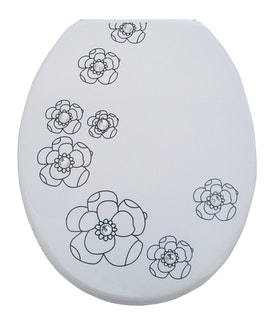 Holzkern WC-Sitz WHITE FLOWER