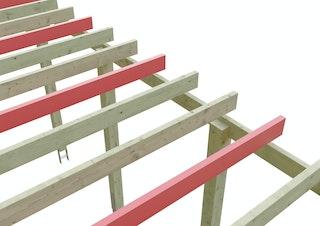 Skan Holz Schneelasterhöhung für Flachdach Carports