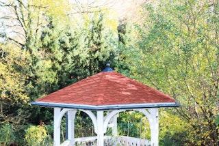 Skan Holz Metall Regenrinnen-Set für Pavillon Nancy