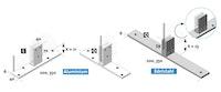 T&J HYGIENE SCHUTZGLAS Standfuß für ESG 6 mm