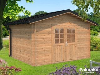 Palmako Gartenhaus Tina 10,4 m² inkl. Metalldach - 34 mm