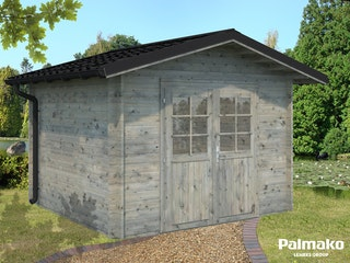 Palmako Gartenhaus Tina 7,5 m² inkl. Metalldach - 34 mm