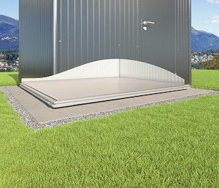 Stellfuß-Fundament SmartBase für Biohort Gerätehaus Avantgarde mit Einzeltür oder Doppeltür