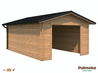 Palmako Garage Tomas 19,2 m² inkl. Metalldach - 34 mm - ohne Tor