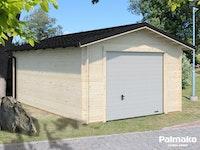 Palmako Garage Tomas 19,2 m² inkl. Metalldach - 34 mm - mit Sektionaltor
