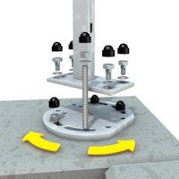 TraumGarten Mauer-Eck-Montageadapter für Aufschraubanker