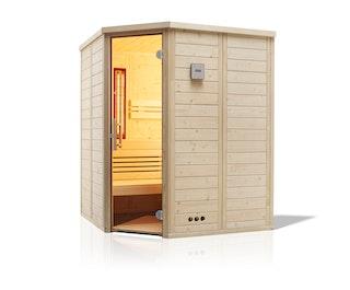 Infraworld Sauna Urban Complete 164 Ecke - 40 mm Massivholzsauna