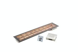 Infraworld VITALlight-IPX4 Infrarotstrahler-Set Easy Control anthrazit gerader Einbau