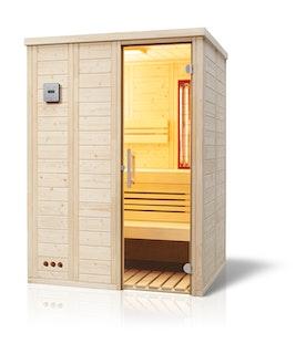 Infraworld Sauna Vitalis 148 Complete - 40 mm Massivholzsauna