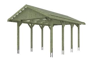 Skan Holz Wallgau - Satteldach Einzelcarport Breite 380 cm