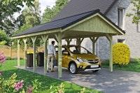 Skan Holz Wallgau - Satteldach Einzelcarport Breite 430 cm