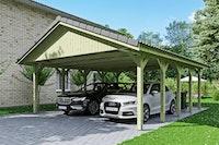 Skan Holz Wallgau - Satteldach Doppelcarport Breite 620 cm