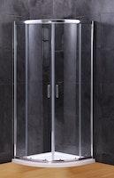 Duschkabine Schiebetüre halbrund Vollrahmen XST-VGR ESG 6 mm inkl. Duschwanne und Ablauf 800 x 800 x 1890 mm