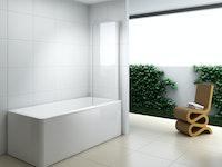 Duschfixteil Duschwand Badewannenaufsatz XBA ESG 6 mm 900 x 1400 mm