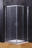 Duschkabine Schiebetüre Vollrahmen XST-VGE ESG 6 mm inkl. Duschwanne und Ablauf 900 x 900 x 1890 mm