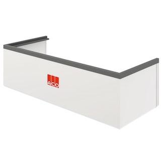 ACO Therm® Aufstockelement (h= 3-30 cm) für Lichtschachtbreite 150 cm - Tiefe 70 cm