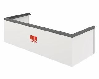 ACO Therm® Aufstockelement (h= 27,0 cm) für Lichtschachtbreite 80 cm - Tiefe 50 cm