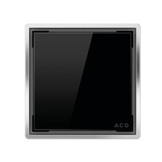 ACO E-point Design-Abdeckung Glas schwarz