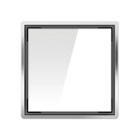 ACO E-point Design-Abdeckung Glas weiß