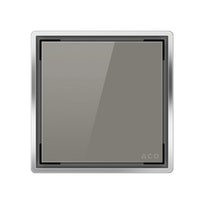 ACO E-point Design-Abdeckung Glas grau
